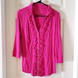 INC International concepts button down blouse